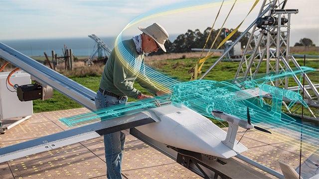 Man preparing drone