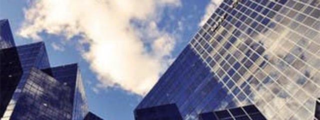 city sky skyscraper clouds