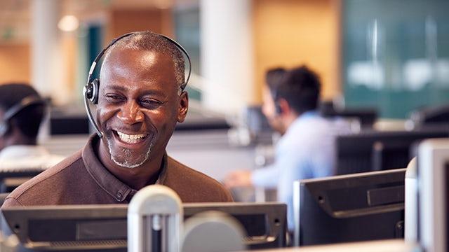 Siemens Veteran on call with a customer