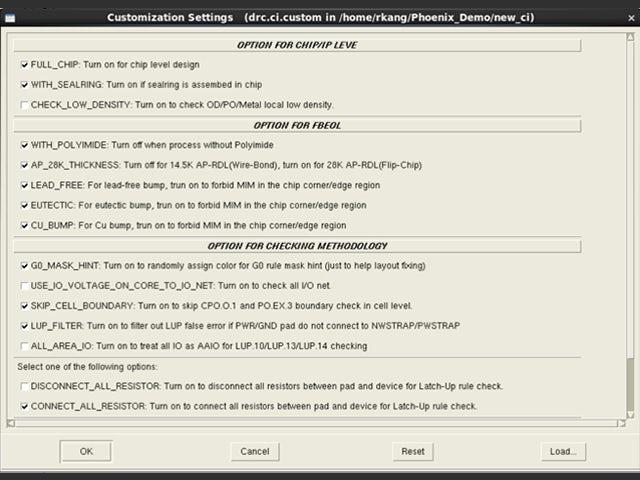 Calibre Interactive screenshot of run customization settings   The setup for Calibre jobs is encapsulated in a single runset file, simplifying setup and maintenance while enhancing reproducibility.