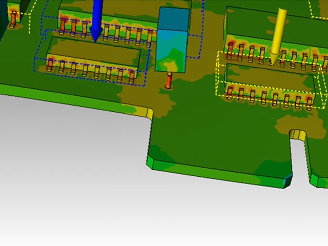 Snapshot of vibration analysis simulation in Xpedition
