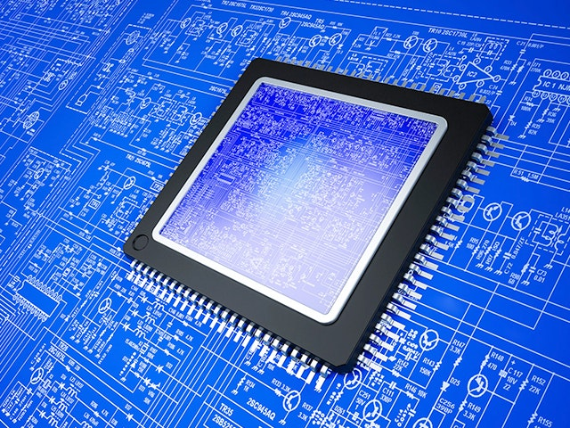 Electronic chip on top of schematic | The Calibre nmLVS platform is the market leader in IC layout vs. schematic circuit verification, delivering production-proven device and connectivity extraction for both physical verification and parasitic extraction.