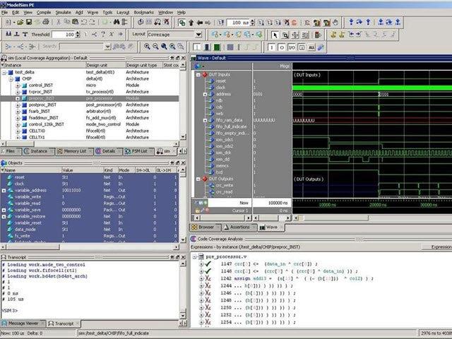 ModelSim code coverage screenshot