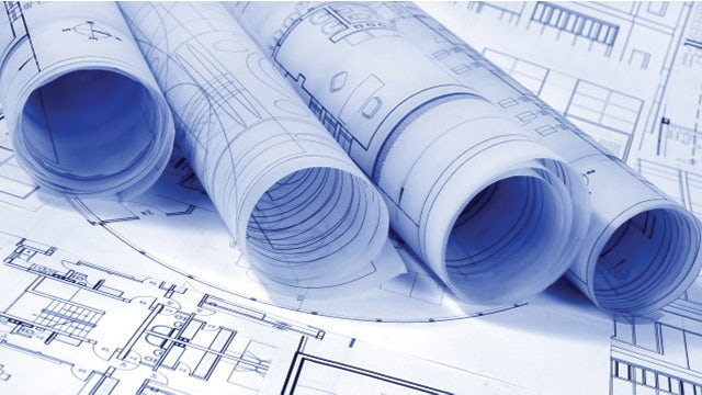 Visual representation of the concept blueprinting with a structural engineering blueprint