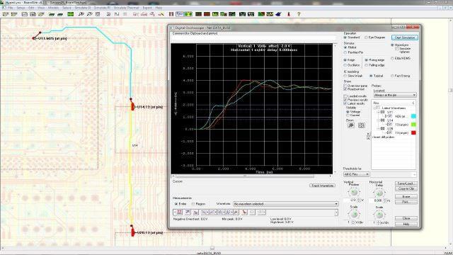 PCB analysis software screenshot