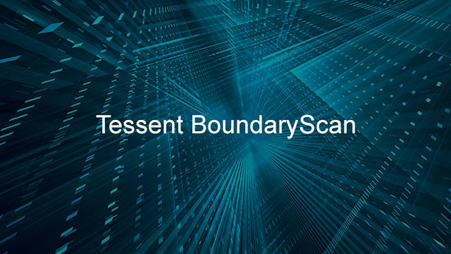 Tessent BoundaryScan printed over an abstract background.