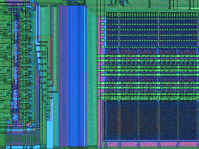 Stylized IC layout | Calibre Multi-Patterning is a comprehensive industry-leading technology for multi-patterning decomposition, verification, and error debugging.