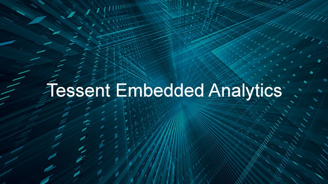 Tessent Embedded Analytics printed over an abstract background.