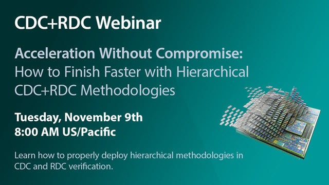This session will identify how to properly deploy hierarchical methodologies in CDC and RDC verification such that neither accuracy nor the performance expected from a hierarchical flow is not compromised.