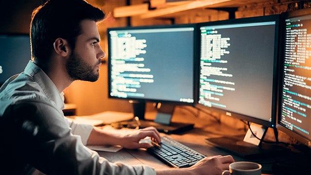 Software Developer programming work from home