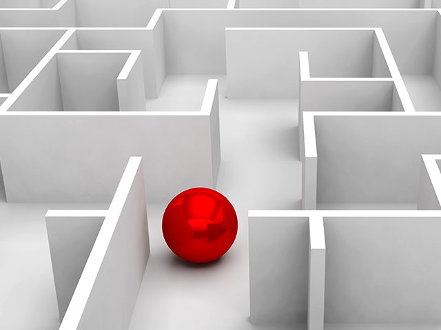 Red ball rolling through a maze | The Calibre nmLVS platform provides an intuitive and easy-to-use integrated design verification debugging environment to help you quickly find and fix design issues. Calibre nmLVS runtimes are typically 2-3x faster than traditional layout vs. schematic processes.