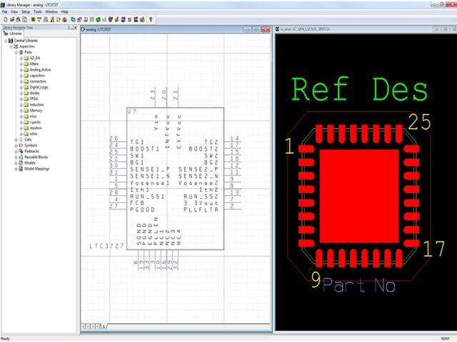 Screenshot of PCB component creation