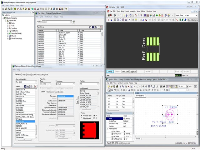 Screenshot of Xpedition software demonstrating consistency checking and verification