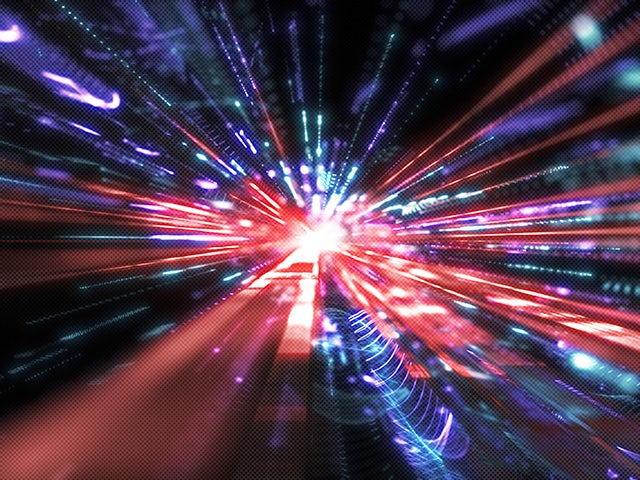 Warp speed multi-color starburst | Calibre xACT efficient algorithms, advanced computational methods, and a multi-threaded, distributed processing architecture provide performance and capacity to handle multi-million instance digital designs.