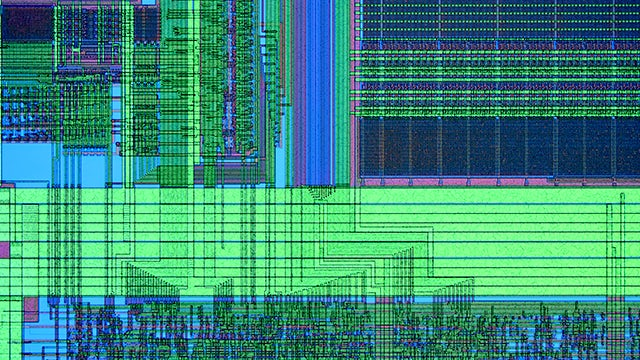 Calibre YieldEnhancer / colorized IC layout screenshot