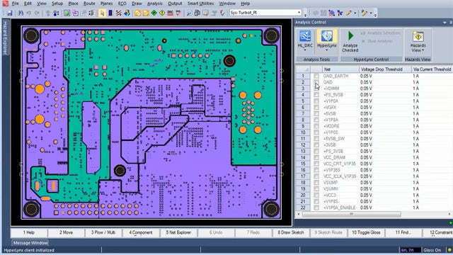 Tool screenshot   With concurrent verification, companies can virtually prototype a design in-process with concurrent verification of performance and manufacturability. Results are visible within the authoring tool for faster review and design updates.