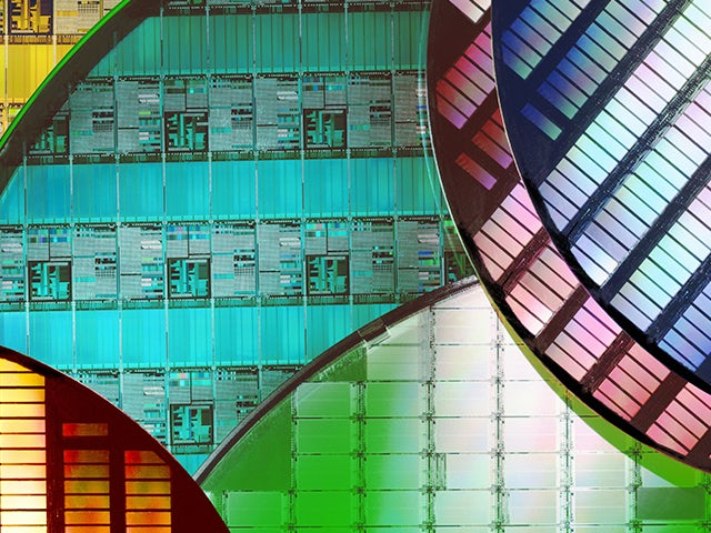 colorful images of IC wafers | Calibre Design