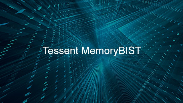 Tessent MemoryBIST printed over an abstract background.