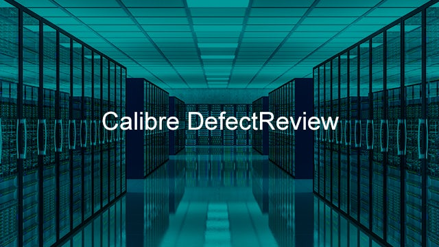 Calibre DefectReview is a graphical tool that groups defects using Calibre pattern matching.