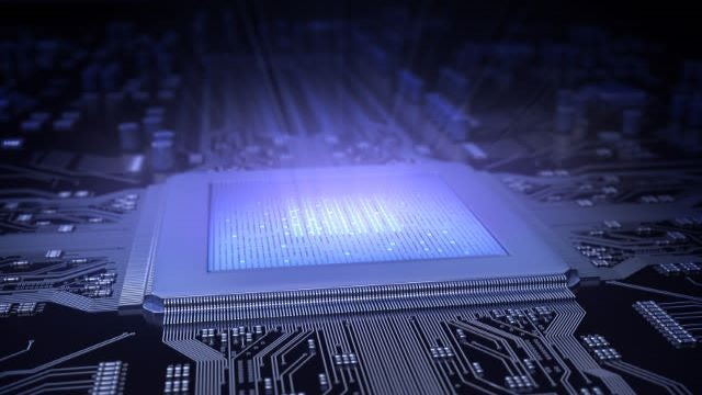 Stylized glowing chip on board |  Veloce apps transform an HW-assisted verification platform into a hub and drive new use models, greatly reducing risk and improving performance.